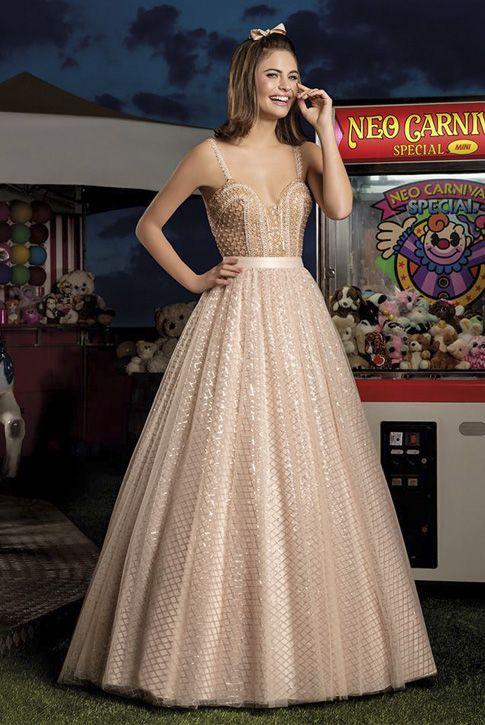 be5b89324 Vestido 15 anos Cotton Candy 02 Center Debutantes Nude Dourado ou Rosa 2 em  1