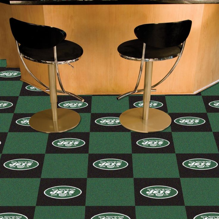 Fanmats New York Jets Black And Green Carpet Tiles By Fanmats