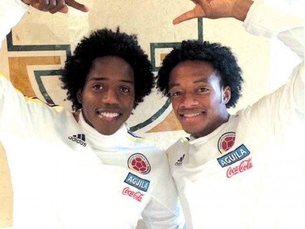 Copa América 2015: Juan Cuadrado y Carlos Sánchez, jugadores colombianos que parecen hermanos.