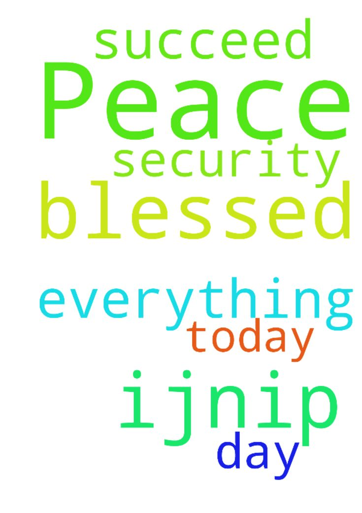 Peace and security -  Please pray that today is a blessed day and that I succeed in everything I do ijnip amen  Posted at: https://prayerrequest.com/t/SOD #pray #prayer #request #prayerrequest