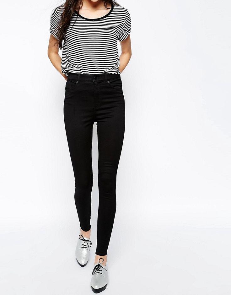 32€ Image 1 - Monki - Oki - Jean slim taille haute de qualité supérieure