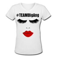 Women's T-Shirts ~ Women's V-Neck T-Shirt ~ MOBWIVES-TEAM Big Ang V-Neck (White)