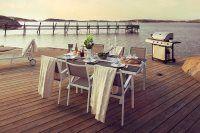 Leone 120x70 H74 vit/grå - Bord   Brafab – Utemöbler, trädgård och balkongmöbler