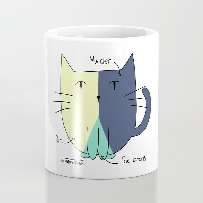 Cat Pie Chart Coffee Mug by Lucy Grove-Jones   Society6