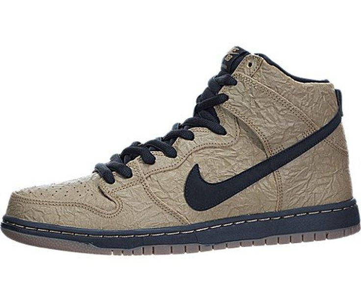 Mens Nike Dunk High Premium SB Brown Bag Skateboarding Shoes 313171 202  FilbertBlackGum Dark Brown Size 9 DM US * Check this awesome product by  going to the ...