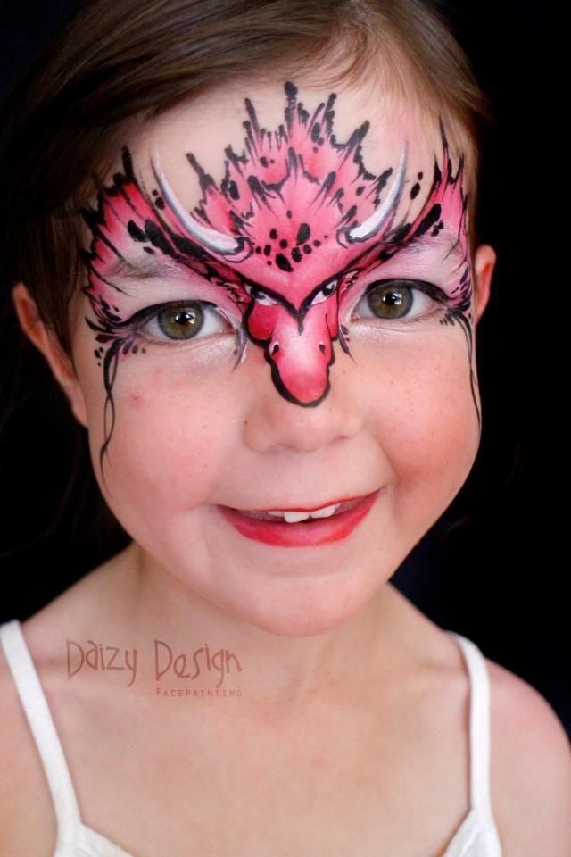 Dragon girl - face paint -                                                                                                                                                                                 More