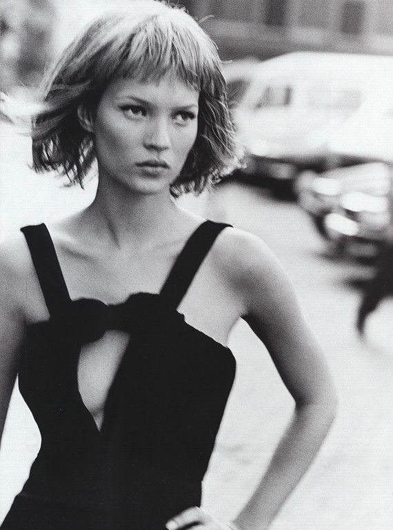 Kate Moss photographed by Peter Lindbergh.