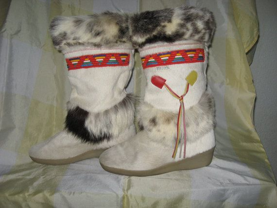 Vintage Tecnica ski lodge boots by Angelastore on Etsy, $175.00