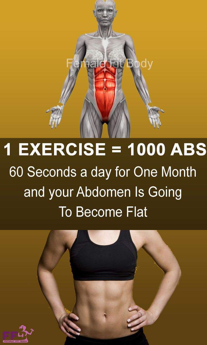 This Exercise Is More Efficient Than 1000 Abs: Spend 60 Seconds a Day Doing This Exercise And In Just One Month Your Abdomen Is Going To Become Flat