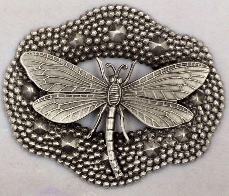 Wonderful Dragonfly button....♥