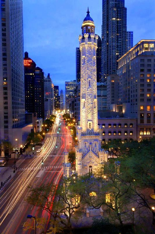 The Magnificent Mile, aka, North Michigan Avenue between the Chicago River and Oak Street Beach