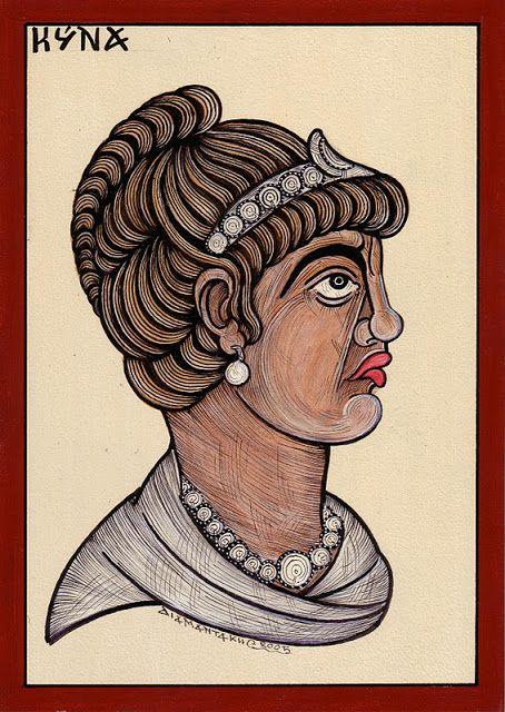 ΚΥΝΝΑ.....ή Κυνάνη... ήταν κόρη του Φίλιππου Β' της Μακεδονίας απο την Ιλλύρια πριγκήπισσα Αυδάτη και ετεροθαλής αδερφή του Μέγα Αλέξανδρου.....ήταν μια πριγκήπισσα της Μακεδονίας, μεγαλωμένη με στρατιωτική εκπαίδευση και μάλιστα πολέμησε γενναία στο πλευρό του πατέρα της Φιλίππου κατά την διάρκεια της εκστρατείας του στην Ιλλυρία.....