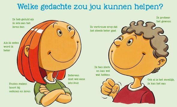 Prachtige poster over helpende gedachten. Uitgeverij Pica.