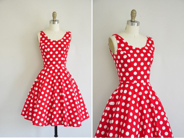 Vintage 60s polka dot dress / 1960s red and white polka dress ...