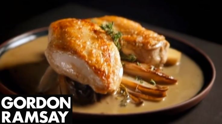 Chicken Breast and Sautéed Chicory in Marsala Sauce - Gordon Ramsay