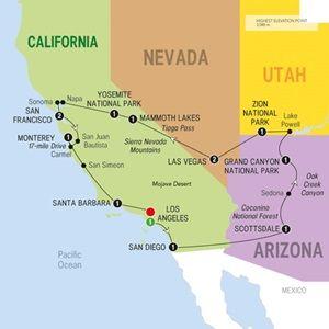 Map of Western Discoverer - Summer 2015
