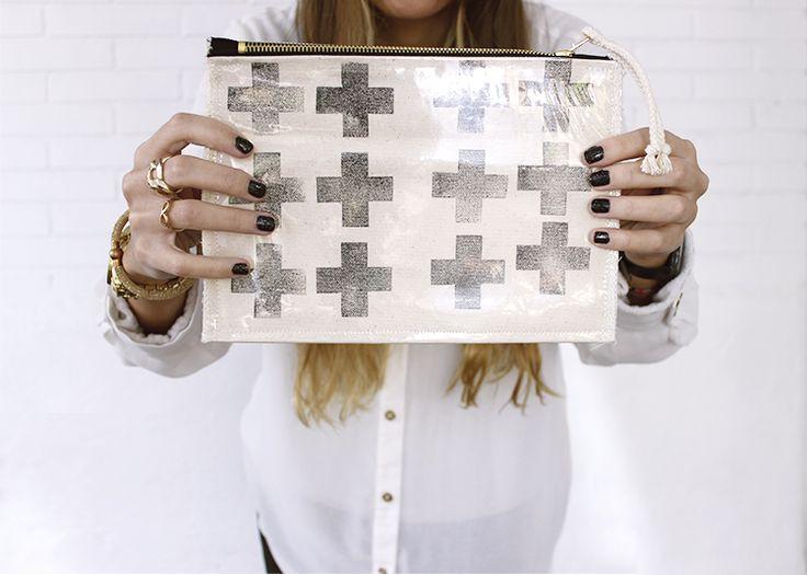 BLANK CANVAS www.etsy.com/people/blankcanvasshop bag - handbag - makeup bag - fabric - plastic bag - hand made - women - clutch