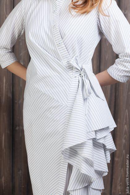 Платья ручной работы. Платье-рубашка Водопад Любви. Юлия. Ярмарка Мастеров. Платье летнее, в наличии, воланы