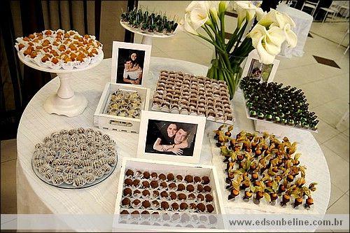 decoraç u00e3o mesa doce casamento 2 Noivado Pinterest Mesas, Simples e Casamento -> Decoração De Mesa De Casamento Barato