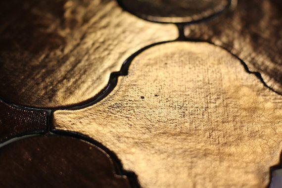 Pure genius Arabesque old gold European artisan tile