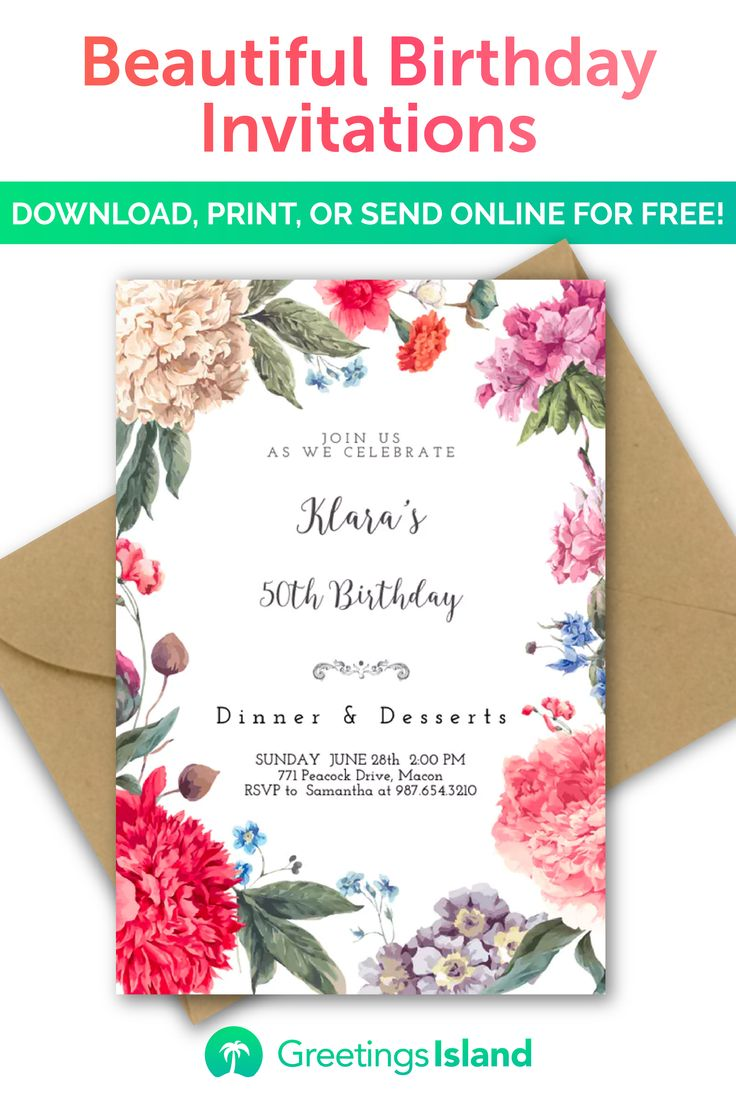 create your own birthday invitation in minutes  download