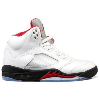 New White Fire Red Black 2013 Air Jordan 5 Fashion Shoes Store