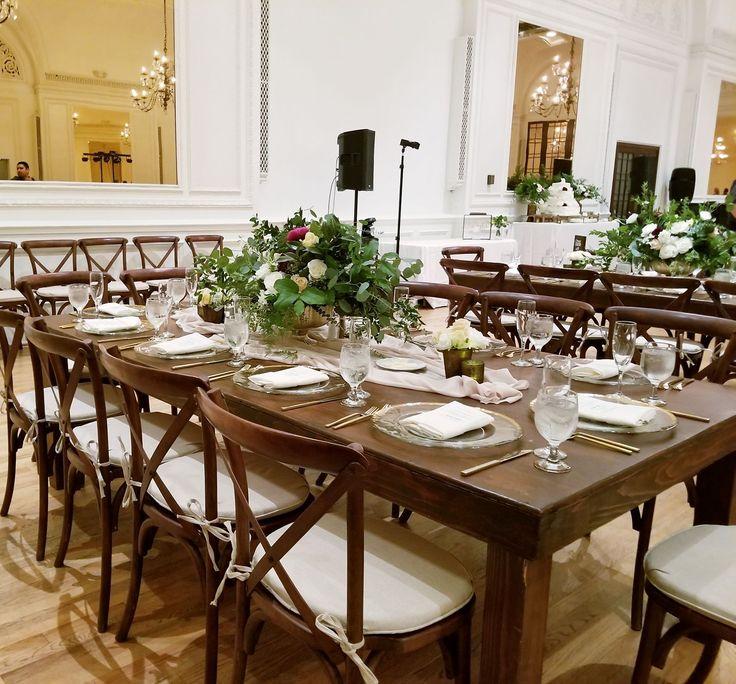 Alexandria Hotel Table settings