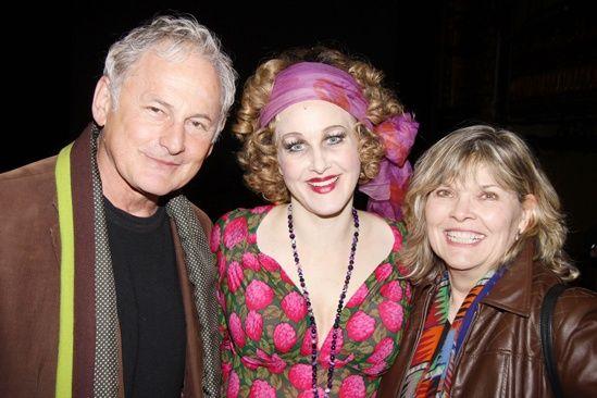 Victor Garber and Debra Monk visit with #Annie star Katie Finneran