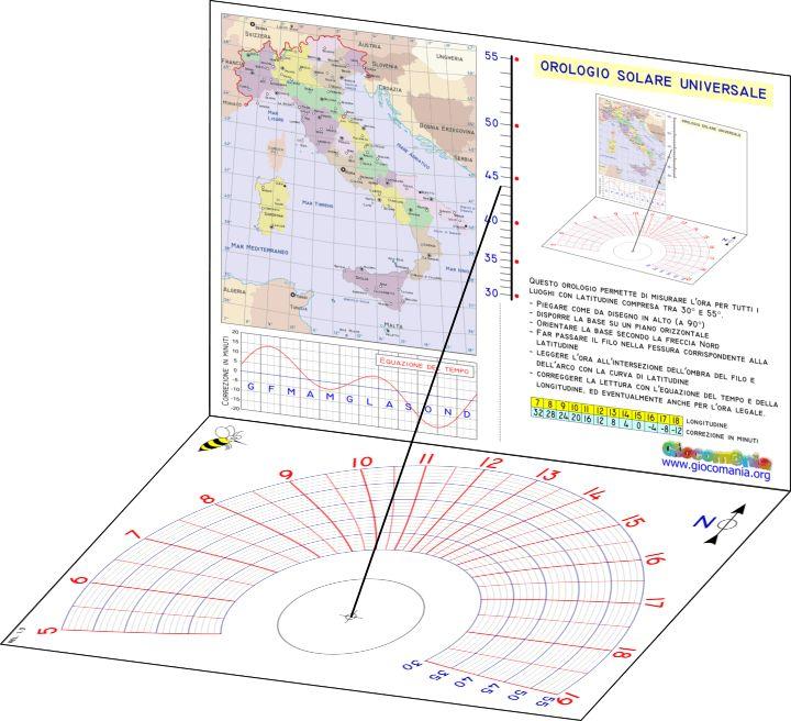 Orologio solare universale (meridiana) / Portable universal sundial