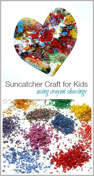 Suncatcher Craft for Kids Using Crayon Shavings~ http://BuggyandBuddy.com