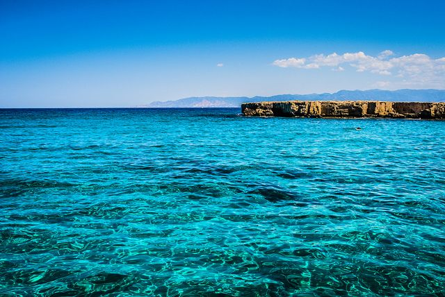 Blue Lagune, Latchi, Polis, Cyprus by sitkarev, via Flickr.  What a stunning color!!