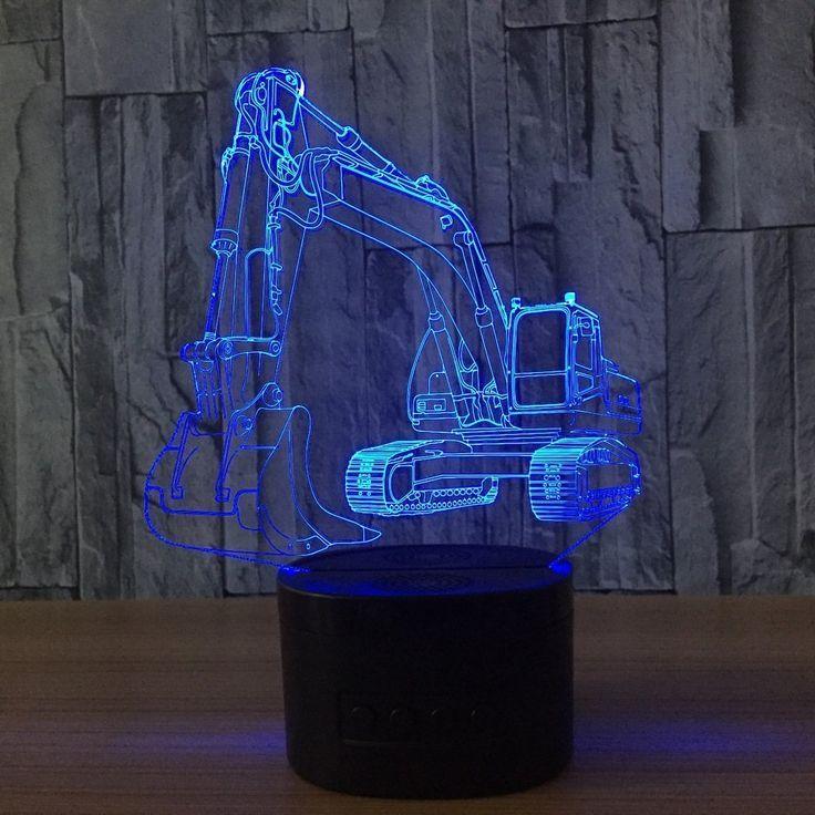 Deko Fur Das Kinderzimmer Kleiner Bauarbeiter Bagger Lampe Kreative Geschenke 3d Nachtlicht Usb Led Nachtlicht F Nachtlicht Nachtlicht Fur Kinder Nachtleuchte