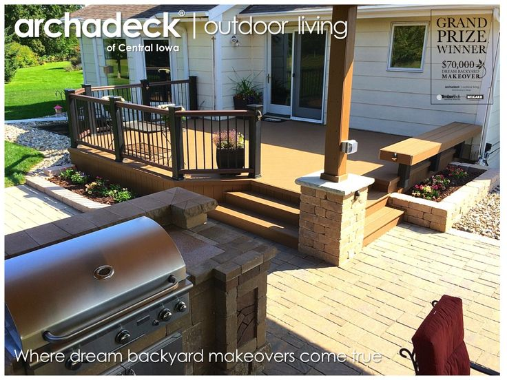 8 best dream backyard makeover contest grand prize for Outdoor kitchen under deck