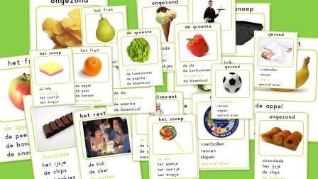 Kwartet gezondheid (voeding/beweging/eten/gezond)