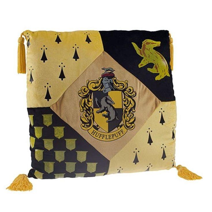Wizarding World of Harry Potter Hufflepuff Crest Pillow Universal Studios | eBay