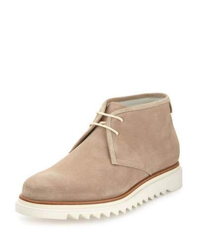 Suede Chukka Boot on Archival Sole, Tan