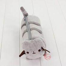 24 cm Pusheen Gato de Juguete de Felpa Pusheen Gato Lindo Caja de Lápiz de La Pluma Bolsa de Muñeca de los Animales para Niños Navidad y Regalos de cumpleaños(China)