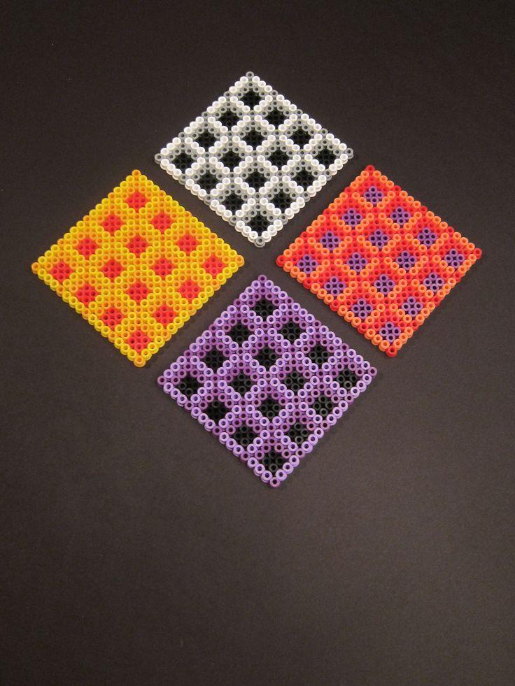 Hama bead coasters by Villi.Ingi