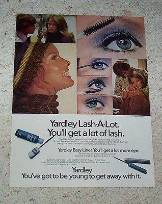 1971 ad page - Yardley of London cosmetics makeup SHELLEY HACK beauty ADVERT