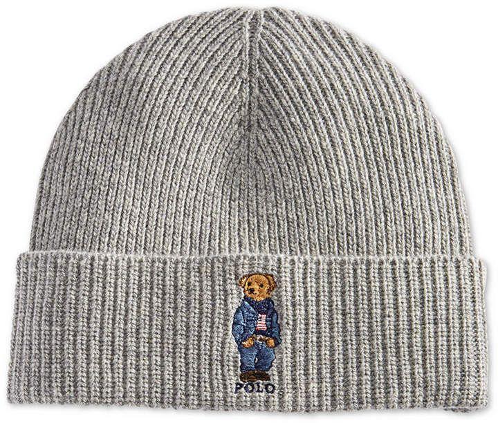 fde865bcafc79 Polo Ralph Lauren Men s Polo Bear Blue Jean Jacket Cuffed Hat