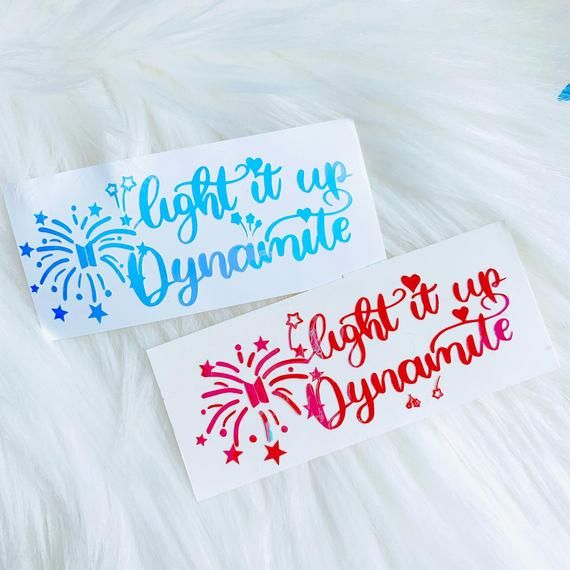 Light It Up Dynamite Bts Holographic Vinyl Decal Etsy In 2020 Vinyl Decals Clear Plastic Sheets Laptop Decal