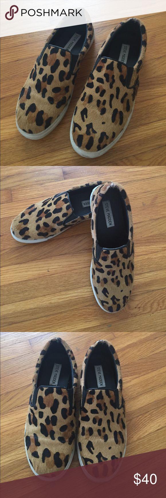 Steve Madden Leopard Print Slip on Sneakers Size 7 - women's Steve Madden Shoes Sneakers