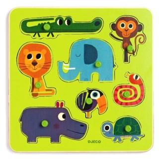 DJECO Steckpuzzle Spielzeug bunt