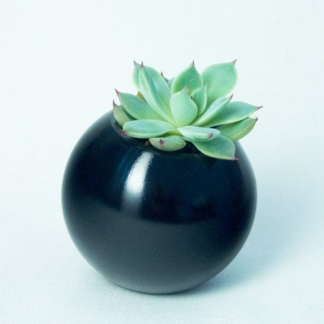 Sfera -  vas pentru plante, de la Atelierro. Geometrica, o colectie de vase moderne, ideale pentru plante suculente sau cactusi, acasa sau la birou. Create de Atelierro. http://www.atelierro.eu