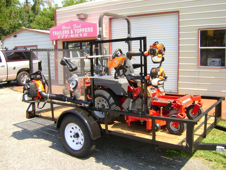 utility trailers are perfect for hauling lawn equipment!