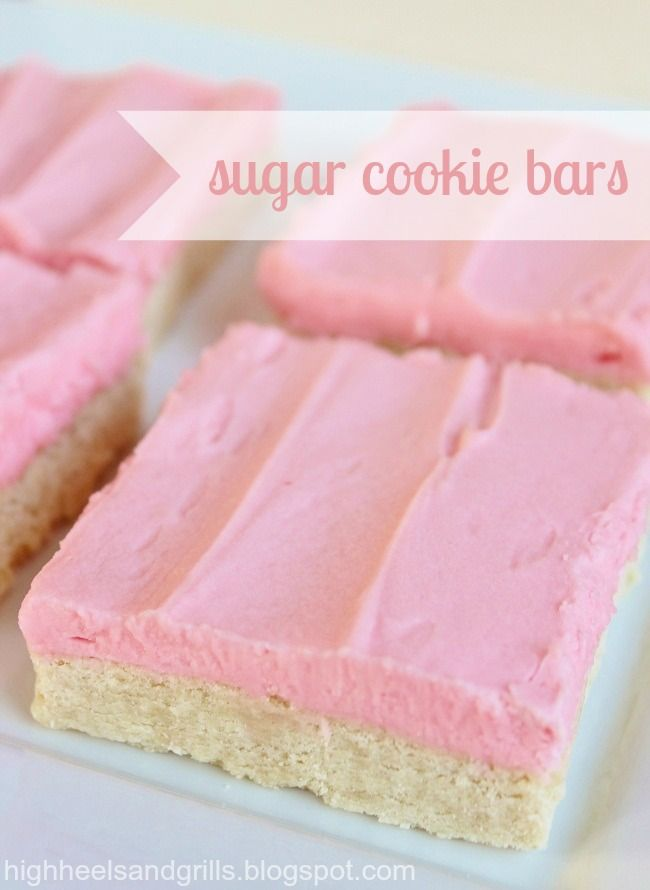 Sugar Cookie Bars. Half the mess of normal sugar cookies and just as much deliciousness! This could be very dangerous!!