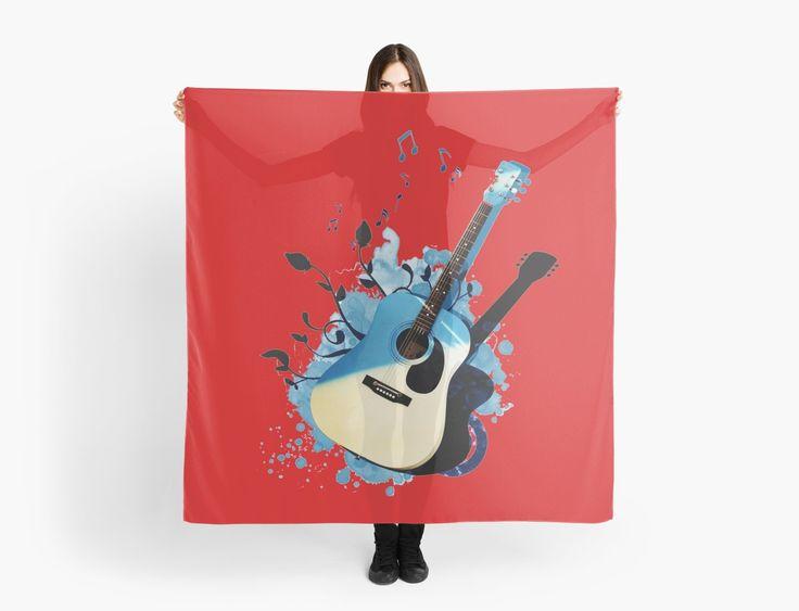 « Blue guitar - guitare - musique- instrument » par LEAROCHE