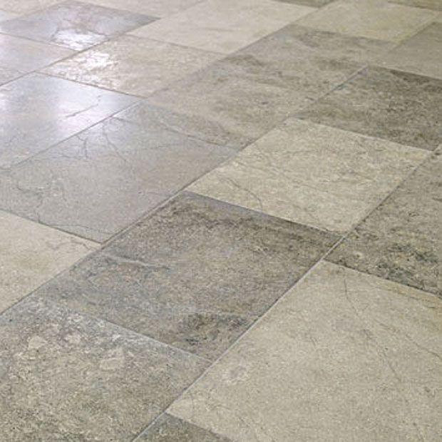 Distressed European New Montpellier grey/white hardwearing limestone floor