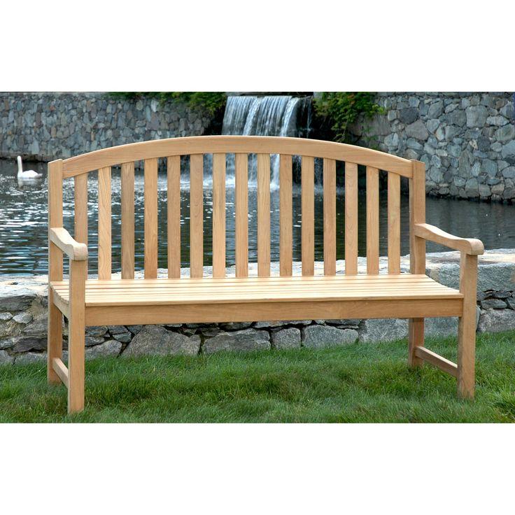 Outdoor Regal Teak Aquinah Curved Back Bench Outdoor