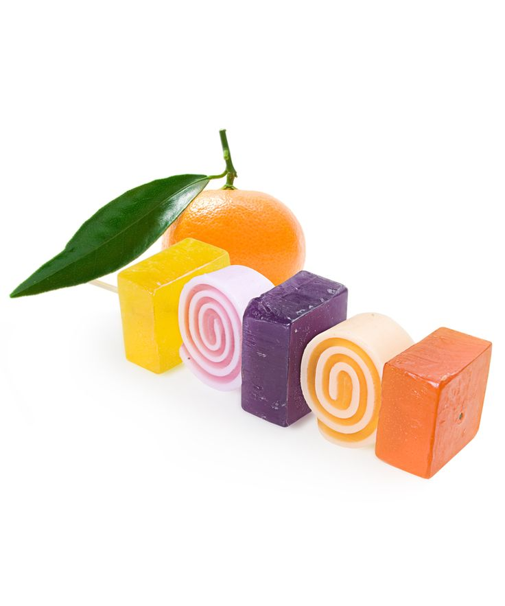 Soap Kebab Orange RoseInspired by the delicious fruit kebab recipe, this amazing colourful soap is a twist of yellow, orange, pink and lila soap blocks on a wooden stick.  Feel like in a paradise with this delicious recipe of tutti frutti accord blending of sun ripened raspberry with sliced pear notes, combined with mandarin juicy smells resting  on a rose garden. This soap takes you during bathing to a paradise.